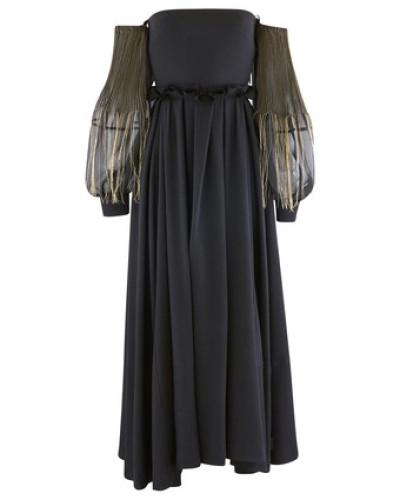 Langes Kleid Off Shoulder
