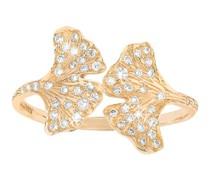 Ring Gingko mit Diamanten