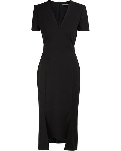 Midi-Kleid aus Mischwolle