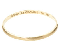 1g brushed yellow gold wedding collection ring
