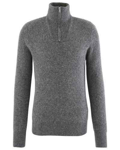 Pullover mit hohem Kragen und Reißverschluss