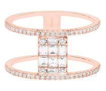 Ring – funkelnd und quadratisch mit Diamanten