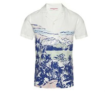Resort-Hemd Travis Pop Diver mit Druck Pop und Capri-Kragen