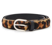 Ledergürtel mit Leopardenmuster