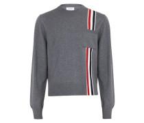 Pullover mit dreifarbigen Streifen