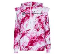 Bedrucktes Kapuzensweatshirt Jungle in Rosa