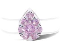 Ring Floating Poire mit einem rosa Saphir
