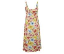 Langes Kleid mit Blumendruck