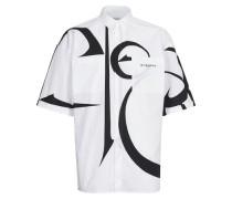 Oversize-Hemd mit kurzen Ärmeln