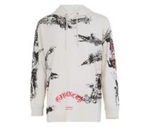 Sweatshirt mit Kapuze und Printmotiv
