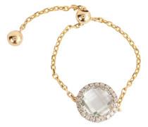 Goldkettenring mit Diamanten
