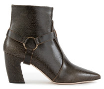 Embossed leather ankle boots