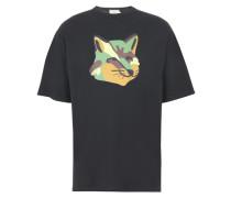 T-Shirt Oversize-Passform Fuchsaufnäher
