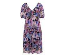 Kleid mit V-Ausschnitt Georgette