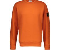 Regular cotton round-neck sweatshirt