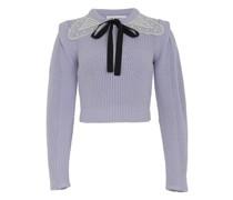 Pullover mit Spitzenkragen