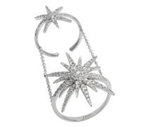 Ring – Doppelsonne mit Diamanten