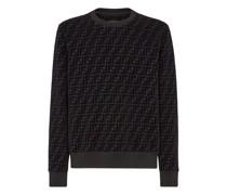 Sweatshirt Aus Pikee In Schwarz