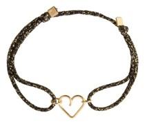 Halskette Cordon Lurex Herz
