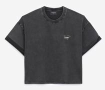 Baumwoll-T-Shirt mit Nadeldetail
