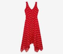 Ärmelloses langes Kleid mit Punkten