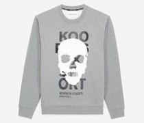 Sweatshirt mit Totenkopf-Badge