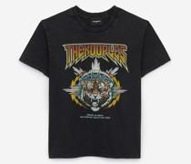 Rockiges T-Shirt aus Baumwolle mit Tiger