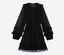 Kurzes Kleid gesmokt Volants