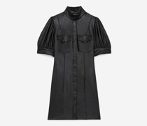 Kurzes Kleid in Hemdstil