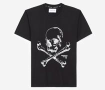 Baumwoll-T-Shirt mit Totenkopf
