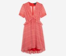 Kurzes leichtes Kleid mit Blumenprint in