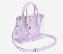 Tasche Medium Ming transparent Leder lila