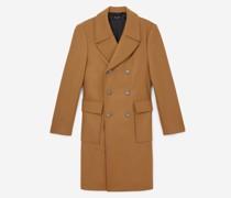 Mantel farben Wolle zweireihig