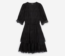 Rockiges kurzärmliges Kleid
