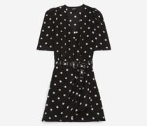 Bedrucktes Kleid im Wickelstil