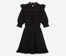 kurzes Kleid mit Rundhalsausschnitt