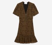 Kurzes leichtes Kleid mit Reißverschluss