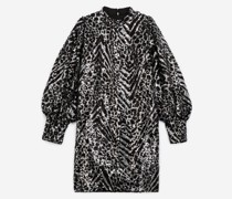 Kurzes Kleid Paillettenstickerei