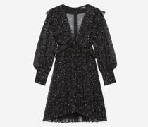 kurzes Plissee-Kleid mit Sternmotiv
