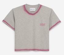 T-Shirt Baumwolle Rosendetails
