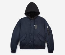 Jacket With Contrasting Duffel Hood
