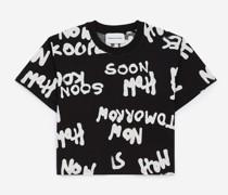 Baumwoll-T-Shirt Allover-Logo
