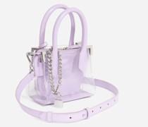 Tasche Nano Ming transparent Leder lila