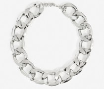 Versilberte Halskette mit großen Gliedern