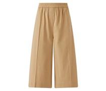 Stretch Linen Tan Shorts Tan