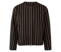 Viscose Wool Stripe Jacket