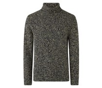 High Neck Chunky Tweed Knit