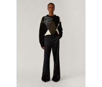 Toron Satin Wool Trousers