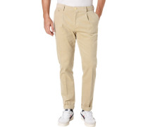 Chinohose, Cord, Regular Slim Fit,