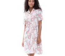 Nachthemd, kurz, Kurzarm, Knopfleiste, floral,